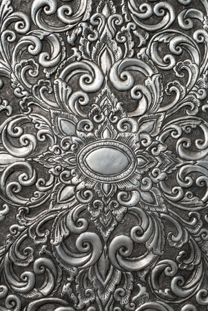 Thai art silver texture photo