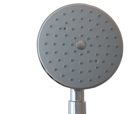ceiling shower on white background photo