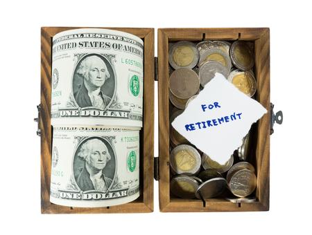 Risparmio per la pensione di denaro Archivio Fotografico - 28973512