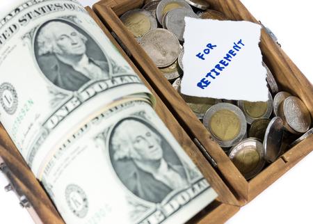 money saving for retirement photo
