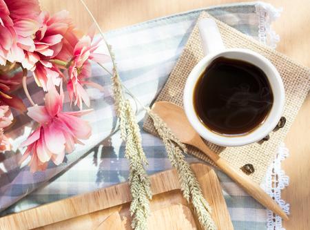 Dark coffee in the morning