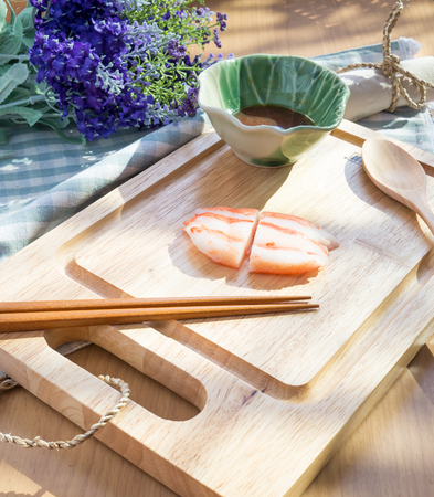 Crab stick in asain style Stock Photo