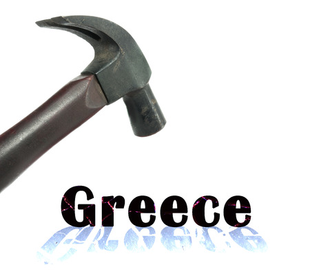 crisis in financial situation of Greece Stock Photo