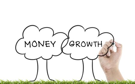 Writing trees with money growth word