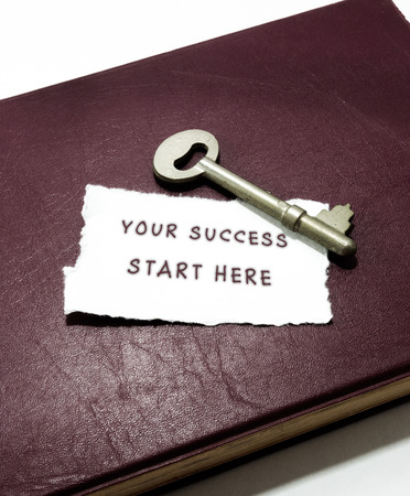your success start here with key on book