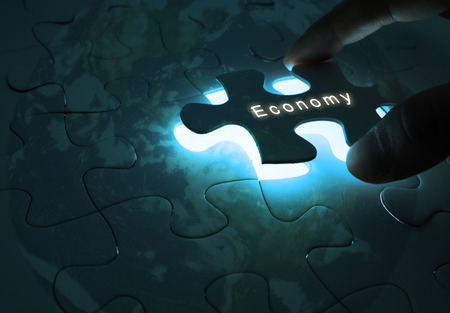 Economy Global Business with Puzzle World