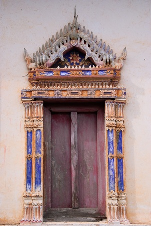 A old traditional temple window photo