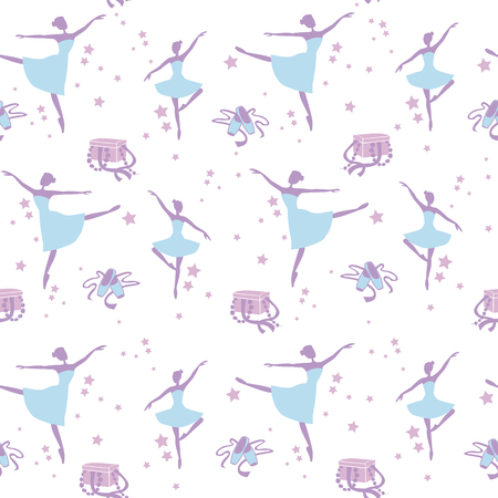 pointes: Vector illustration for printing on paper and fabric