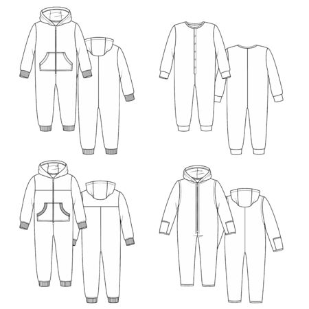 cuffs: Image with overalls. Home wear for sleep and rest.