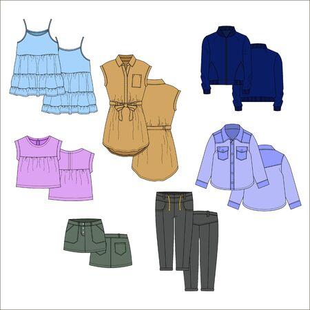 vecor: Vecor kids clothes. Color.