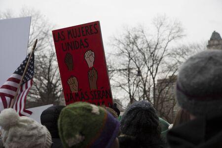 Banner on demonstration