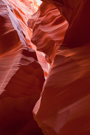 canyon walls: The beautifully smooth and colorful sandstone walls of Antelope Canyon located in Page, AZ.