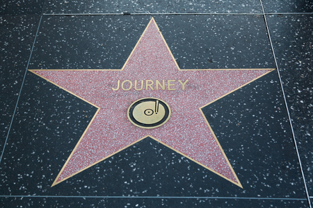 famous industries: HOLLYWOOD, CALIFORNIA - February 8 2015: Journeys Hollywood Walk of Fame star on February 8, 2015 in Hollywood, CA.