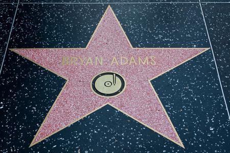 adams: HOLLYWOOD, CALIFORNIA - February 8 2015: Bryan Adams Hollywood Walk of Fame star on February 8, 2015 in Hollywood, CA. Editorial