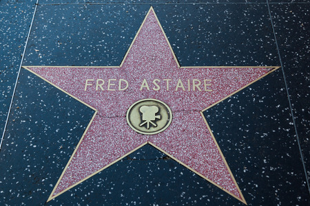 hollywood   california: HOLLYWOOD, CALIFORNIA - February 8 2015: Fred Astaires Hollywood Walk of Fame star on February 8, 2015 in Hollywood, CA.