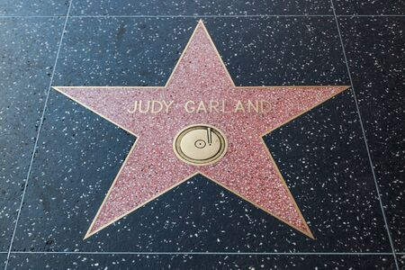 famous industries: HOLLYWOOD, CALIFORNIA - February 8 2015: Judy Garlands Hollywood Walk of Fame star on February 8, 2015 in Hollywood, CA.