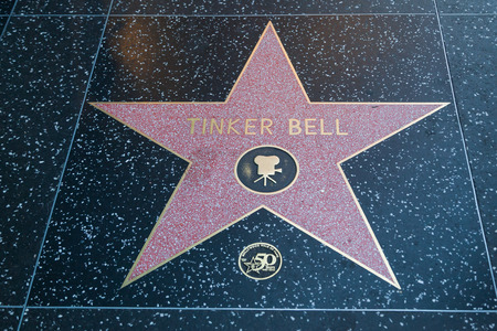 tinker bell: HOLLYWOOD, CALIFORNIA - February 8 2015: Tinker Bells Hollywood Walk of Fame star on February 8, 2015 in Hollywood, CA. Editorial