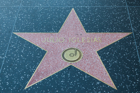 julio: HOLLYWOOD, CALIFORNIA - February 8 2015: Julio Iglesias Hollywood Walk of Fame star on February 8, 2015 in Hollywood, CA.