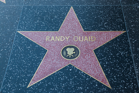 hollywood   california: HOLLYWOOD, CALIFORNIA - February 8 2015: Randy Quaids Hollywood Walk of Fame star on February 8, 2015 in Hollywood, CA. Editorial