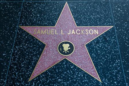 samuel: HOLLYWOOD, CALIFORNIA - February 8 2015: Samuel L Jacksons Hollywood Walk of Fame star on February 8, 2015 in Hollywood, CA. Editorial