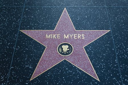 myers: HOLLYWOOD, CALIFORNIA - February 8 2015: Mike Myers Hollywood Walk of Fame star on February 8, 2015 in Hollywood, CA. Editorial