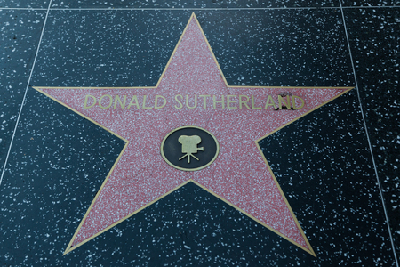 hollywood   california: HOLLYWOOD, CALIFORNIA - February 8 2015: Donald sutherlands Hollywood Walk of Fame star on February 8, 2015 in Hollywood, CA. Editorial