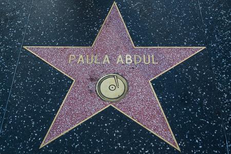 to paula: HOLLYWOOD, CALIFORNIA - February 8 2015: Paula Abduls Hollywood Walk of Fame star on February 8, 2015 in Hollywood, CA.