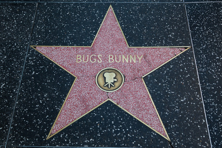 bugs bunny: HOLLYWOOD, CALIFORNIA - February 8 2015: Bugs Bunnys Hollywood Walk of Fame star on February 8, 2015 in Hollywood, CA.