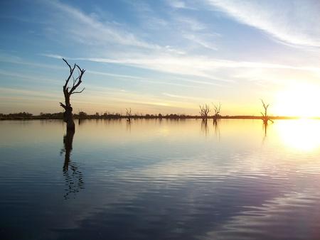 Murray River Sunset Stock Photo - 10409345
