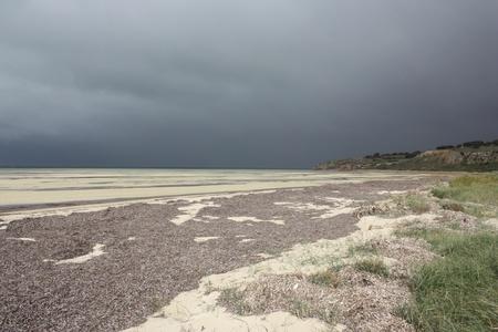 yorke: Coastline of Yorke Peninsula on a gloomy day  Stock Photo