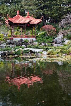 chinese pagoda: Chinese Garden of Friendship Stock Photo