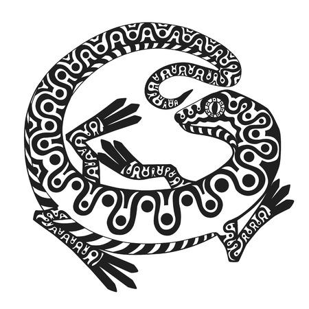 jaszczurka: stylizowany lizad