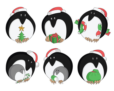 christmas gifts: Christmas penguin with gifts