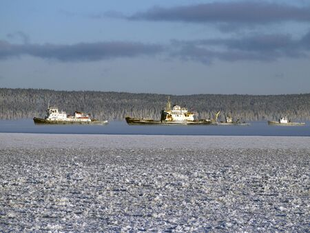 Sailing charter on Onega in the winter
