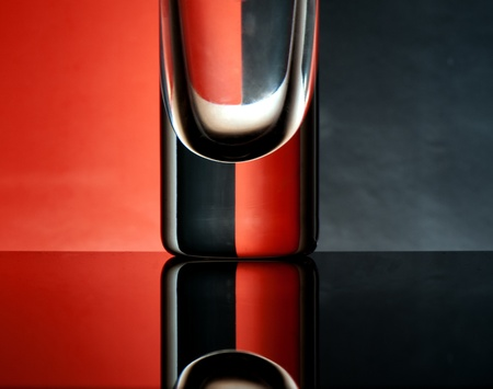 Glass goblets on a colored background abstract Stock Photo - 17468782