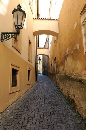 Old streets in Prague, Czech Republic
