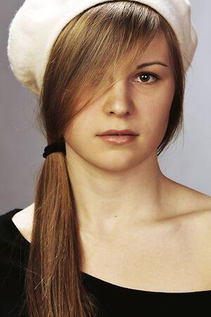 Portrait of the girl in studio Stock Photo - 18137024