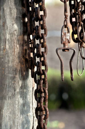 Old rusty iron chain Stock Photo