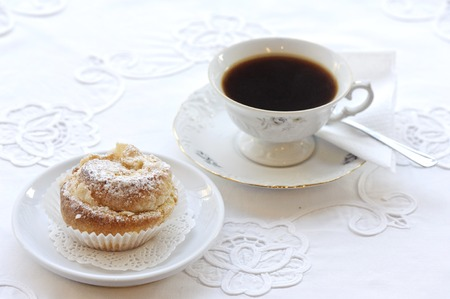 Tea and pastry photo