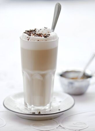 Glass of cocoa with foam Stock Photo