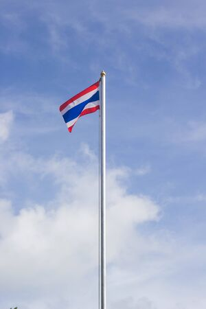 flying flag: Thailand beautiful flag pole flying