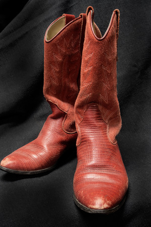 black cowgirl: Western Style CowboyCowgirl Red Leather Boots