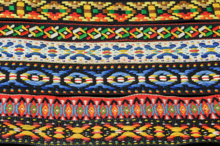 indian fabric: Colorful Native American Indian Fabric Headbands Stock Photo