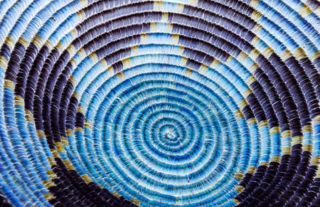 Colorful Blue Native American Indian Basket