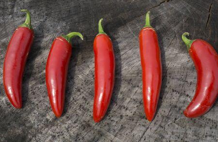 serrano: Bright Red Serrano Peppers