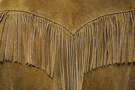 Vintage Western Leather Fringe Coat