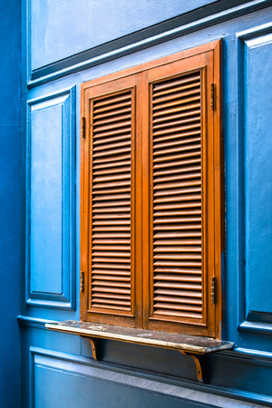 Window Blue Stock Photo