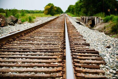 Small town Train Tracks Фото со стока