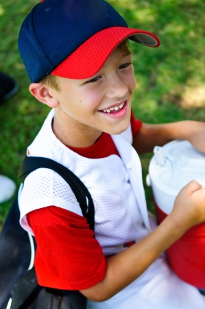 10 years old: Youth baseball player