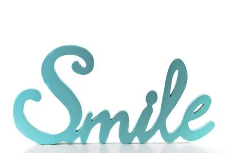 cursive: Baby Blue Smile word isolated on white background Stock Photo